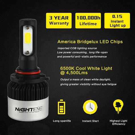 Nighteye Lu Mobil Led Cob 2pcs nighteye 2x 9000lm 9005 hb3 led light headlight kit replace fog bulb l white ebay