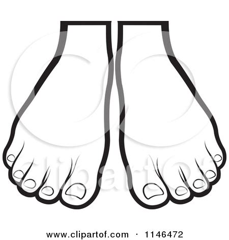 Foot Outline Clipart Clipart Suggest Foot Coloring Pages