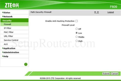 Router Zte F609 zte zxhn f609 screenshots