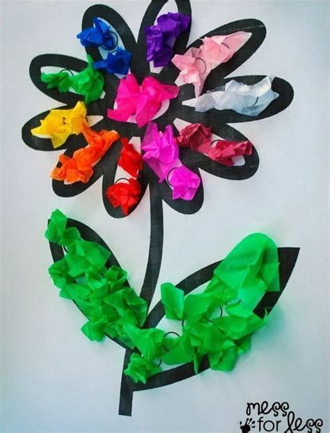 Tissue Paper Crafts - create these easy tissue paper crafts and with