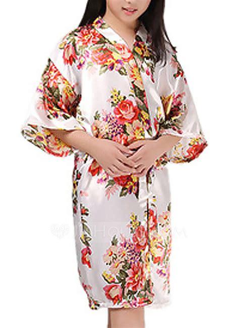 De Kimono Flower flower polyester with knee length floral robes kimono robes 248152305 robes jjshouse