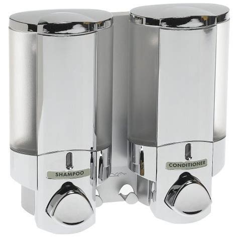 aviva bathroom dispensers aviva two chamber dispenser chrome in shower dispensers