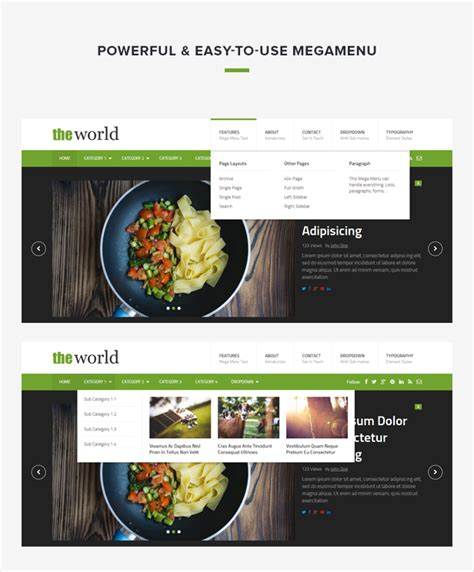 theme junkie the world theworld fresh magazine template jquery re