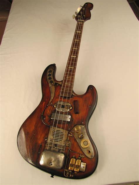Handcrafted Bass Guitars - sparkycaster bass guitar tony cochran custom electric
