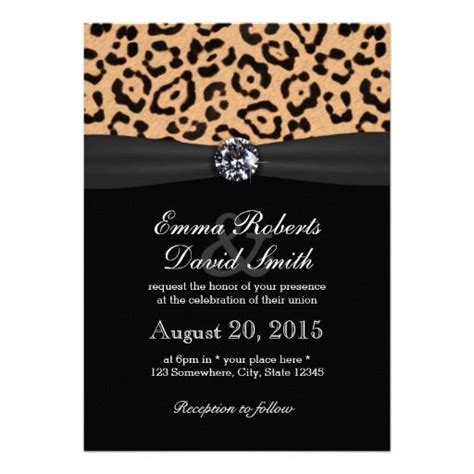 leopard print invitations templates leopard print invitations templates free free editable