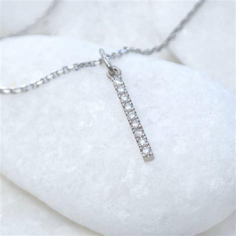 Profile Design Bar Karbon Wrap Silver pav 233 bar pendant in 18ct gold by lilia nash jewellery notonthehighstreet