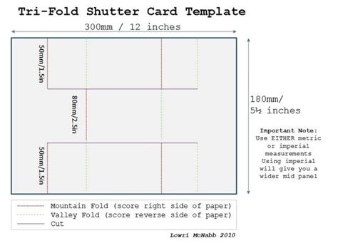 tri fold shutter card template templates