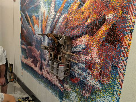 bay area company invents robot  paints giant murals
