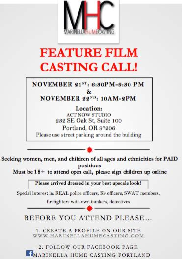 open casting film indonesia 2016 movie open casting call in portland tonight and tomorrow