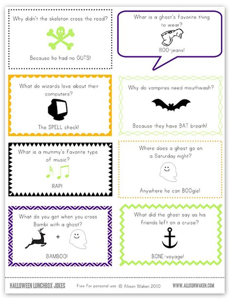 printable halloween jokes and riddles free printable halloween joke lunch notes shesaved 174