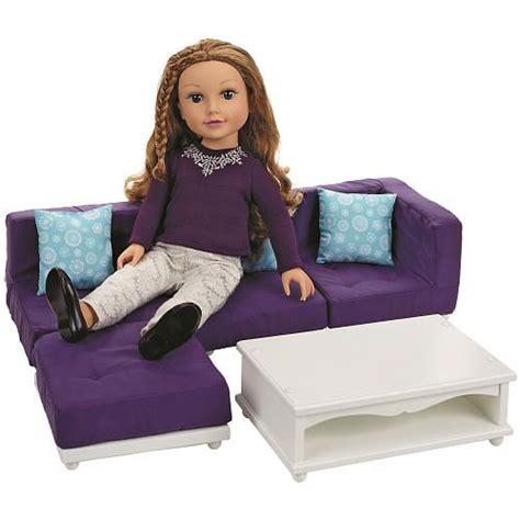 journey girls wooden lounge set doll furniture toys  toys