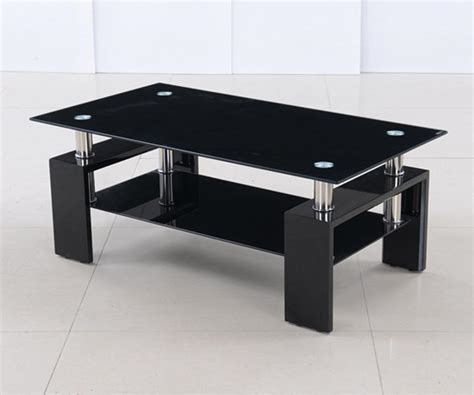 Black And Glass Coffee Tables The Description Of Black Glass Coffee Table Coffee Table Review