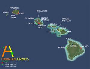 route map hawaiian airways airline travel
