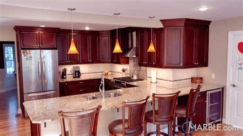 top  granite countertops  cherry cabinets marblecom