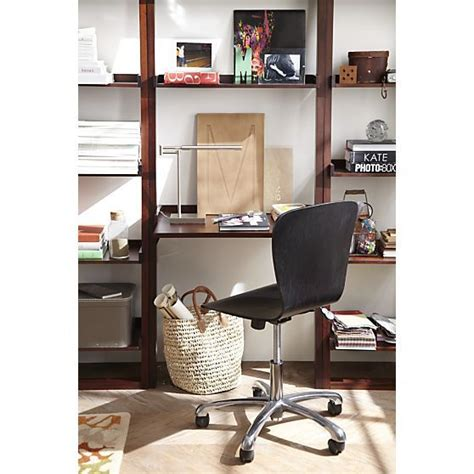 sloane leaning desk sloane java leaning desk crate and barrel home design