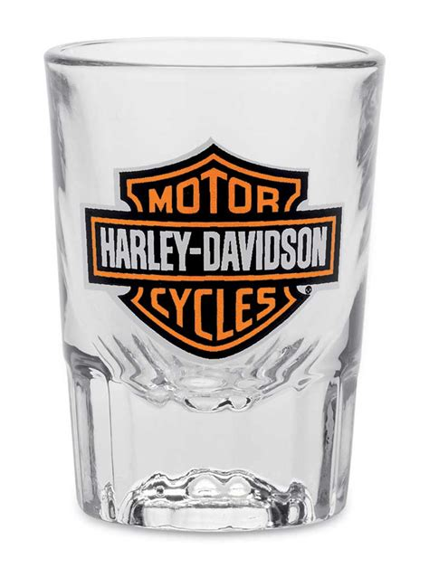 harley davidson barware harley davidson core bar shield 2 oz shot glass