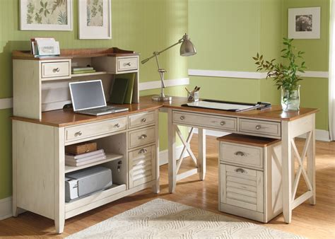 escritorios formal home office writing desk in natural pine finish