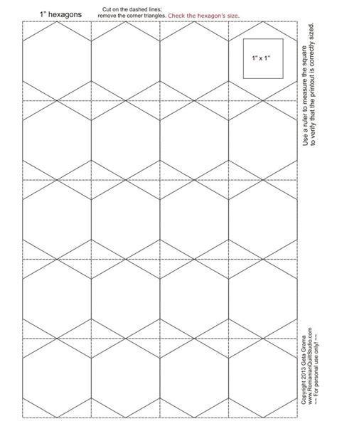 Hexagon Templates For Patchwork - 34 best hexagons images on hexagons patchwork