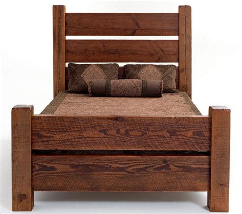 barnwood bed cabin beds lodge furniture barnwood bedroom reclaimed