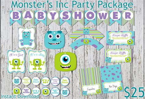 Monsters Inc Inspired Baby Shower Party Package