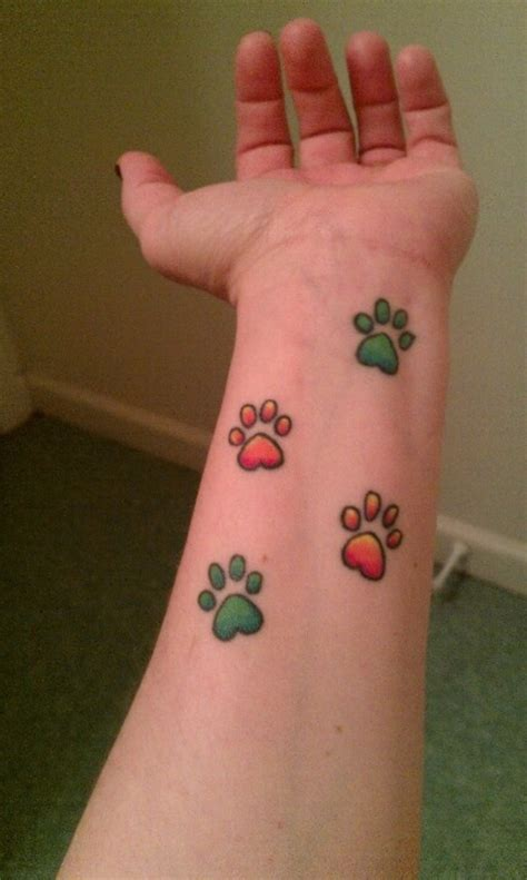 small paw tattoo 35 awesome wrist paw tattoos