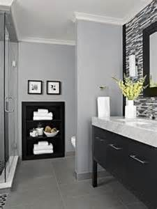 25 best ideas about gray bathroom walls on simple bathroom makeover purple