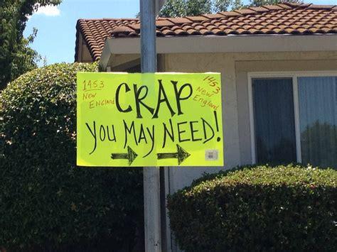 yard sale sign printfree com