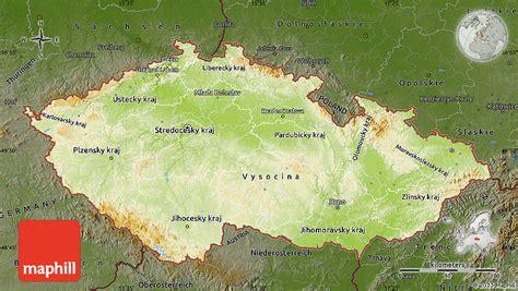 physical map of republic physical map of republic darken