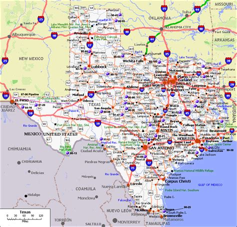 state texas map texas city map county cities and state pictures