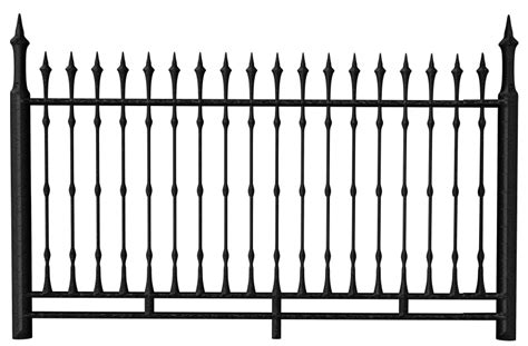 transparent fence transparent black iron fence png clipart gallery