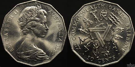 Koin Australia 50 Cent 1978 1982 commonwealth 50c australian 50 cent coins