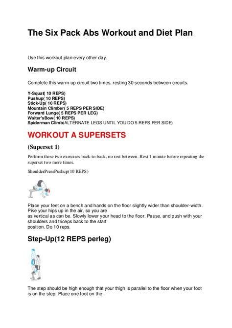 Six Pack Shortcuts Workout Outline by Six Pack Diet Six Pack Shortcut