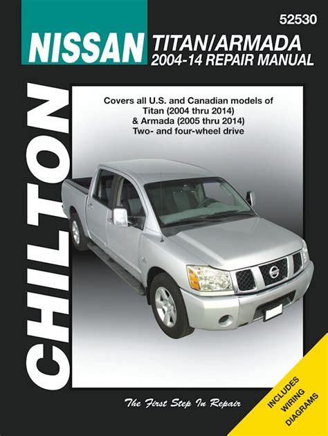 best car repair manuals 2012 nissan armada spare parts catalogs nissan titan armada 2wd 4wd repair manual 2004 2014 chilton