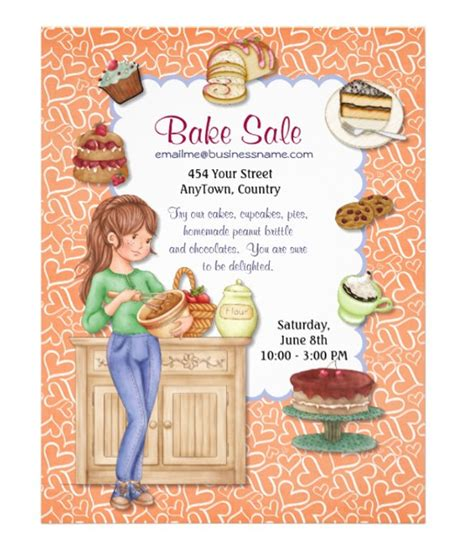 templates for bake sale flyers bake sale flyer template 31 free psd indesign ai