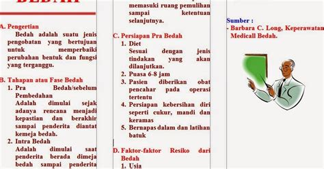 format askep medical bedah leaflet bedah dunia keperawatan