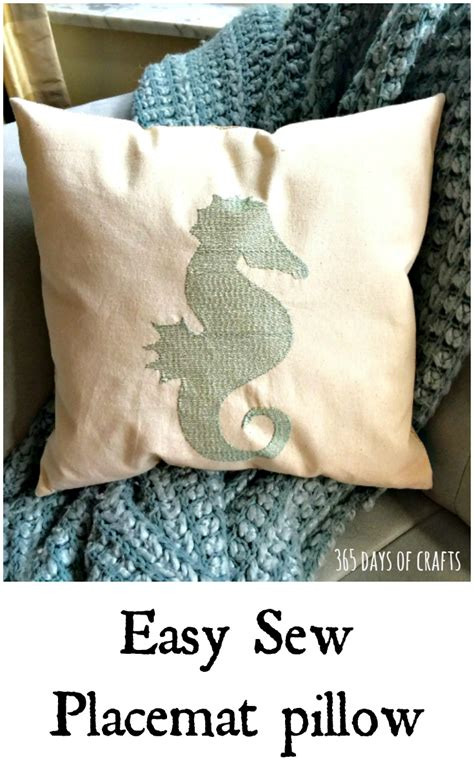 Easy Sew Pillows by Placemat Pillow Simple Sewing Diy And Craft