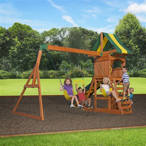 weston cedar swing set backyard discovery weston all cedar swing set reviews