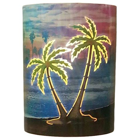 Outdoor Palm Tree Lights Filament Design Aspen 1 Light Outdoor Multicolored Palm Tree Wall Sconce Ip Ds 130 The Home Depot