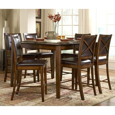 Bar Table Dining Set Homelegance Verona 7 Counter Height Table Set Dining Table Sets At Hayneedle