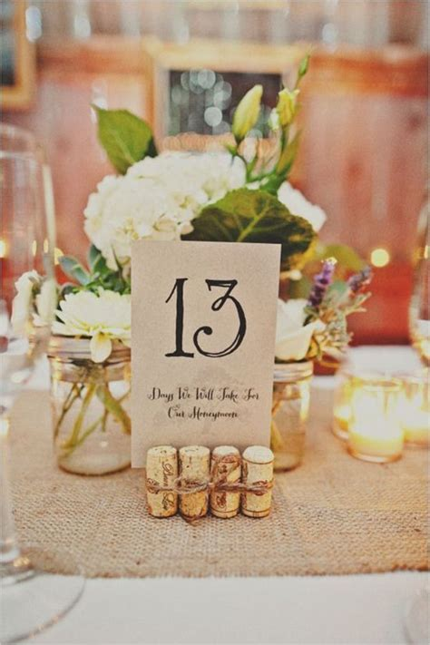 Wedding Table Number Ideas Top 10 Diy Wedding Table Number Ideas With Tutorials Wedding Table Numbers Cork Holder And