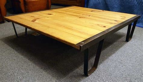 industrial railroad pallet coffee table for sale at 1stdibs