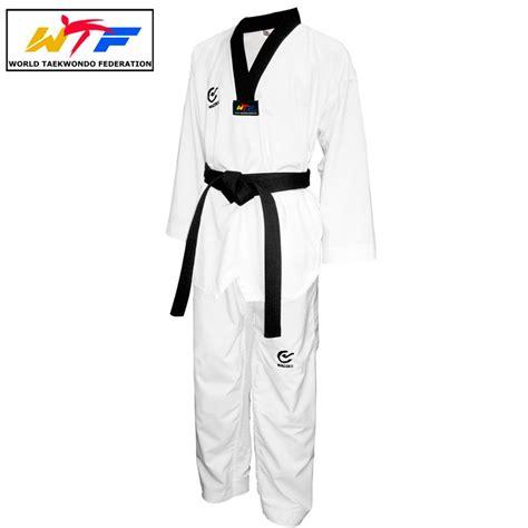 Empro Dobok Taekwondo Pemula 130 140 150 160 dobok taekwondo cuello negro lagunasport