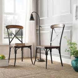 rustic dining room chairs tribecca home nelson industrial modern rustic cross back