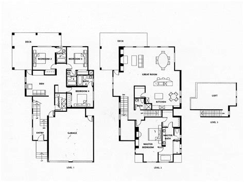 4 bedroom open floor plans luxury homes floor plans 4 bedrooms luxury homes with open
