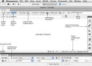 the dreamweaver interface web production i