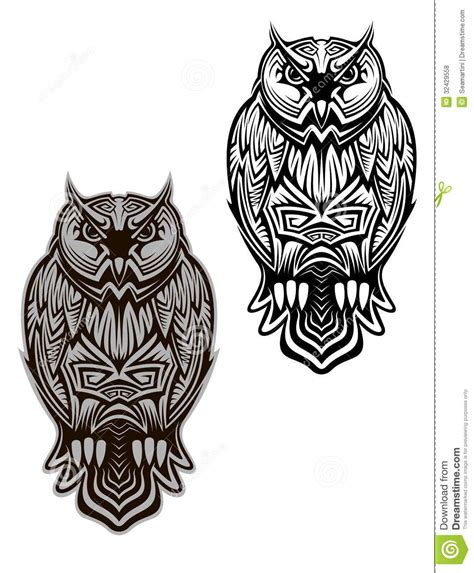 owl bird tattoo royalty free stock photos image 32429558
