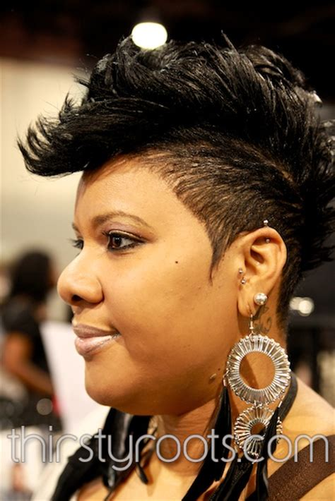 hot styling mohawks tapered relaxed mohawk hairstyle thirstyroots com black