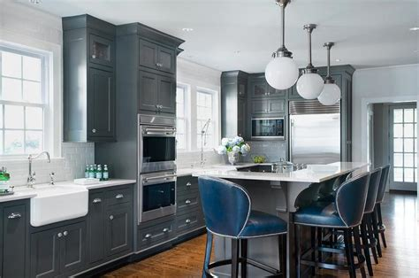 dark grey kitchen cabinets dark gray kitchen island with l shaped raised breakfast
