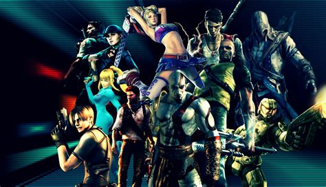 wallpaper all game characters from different games wallpaper by aracnogamer