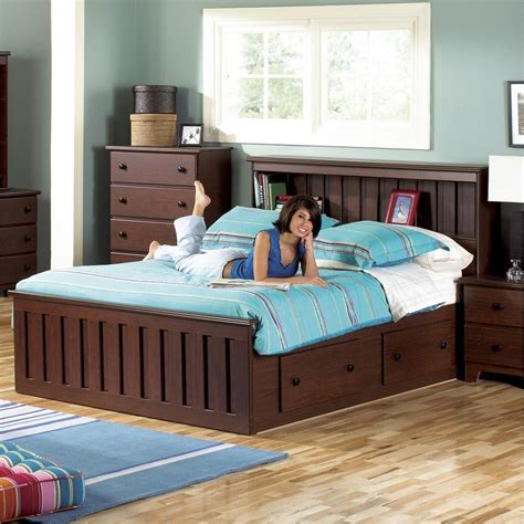 queen bookcase headboard lang furniture bedroom full with
